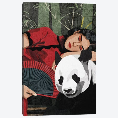 Connecting With Nature | Panda Canvas Print #PHG24} by Phung Banh Canvas Art
