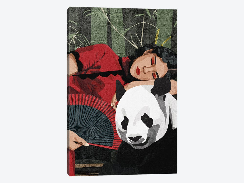 Connecting With Nature | Panda by Phung Banh 1-piece Canvas Artwork