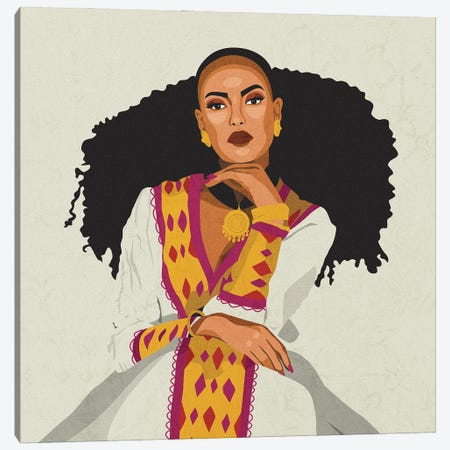 Cultures Celebration | Habesha Canvas Print #PHG45} by Phung Banh Canvas Wall Art