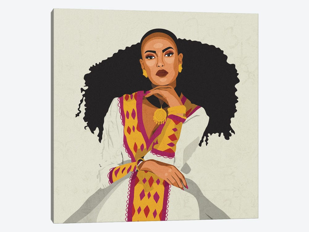 Cultures Celebration   Habesha by Phung Banh 1-piece Canvas Print