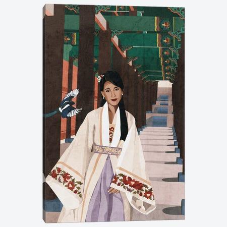 Korean Beauty | Hanbok Canvas Print #PHG56} by Phung Banh Canvas Print