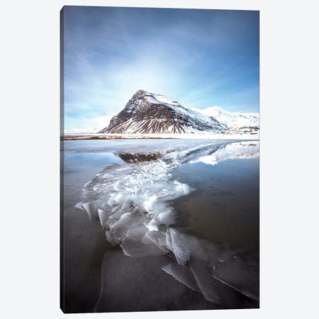 Iceland Ice Lake Canvas Print #PHM101} by Philippe Manguin Art Print