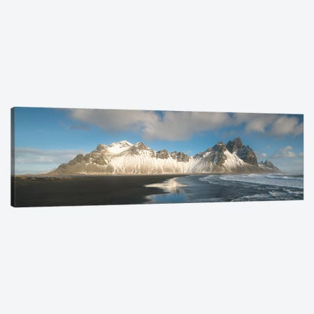 Iceland Vestrahorn Mountain In Stokksnes 3-Piece Canvas #PHM103} by Philippe Manguin Canvas Art Print