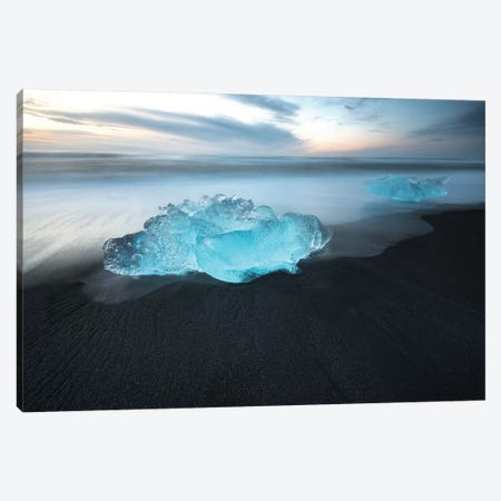 Jokulsarlon Ice Wal Art In Iceland Canvas Print #PHM106} by Philippe Manguin Canvas Artwork