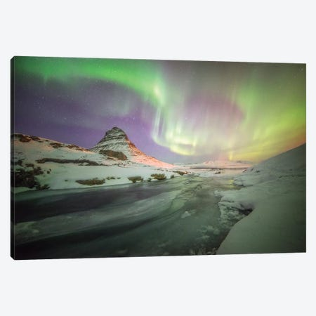 Kirkjufell Curves Iceland 3-Piece Canvas #PHM109} by Philippe Manguin Art Print