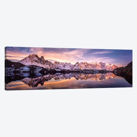Lac Des Cheserys Panoramic - French Alpes Canvas Print #PHM118} by Philippe Manguin Canvas Art