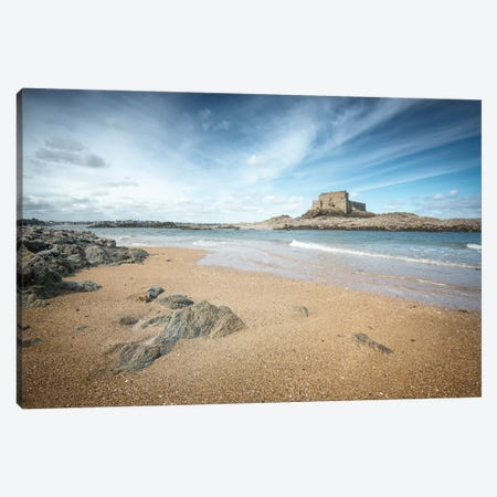 Le Fort Du Petit Be A Saint Malo En Bretagne Canvas Print #PHM122} by Philippe Manguin Art Print