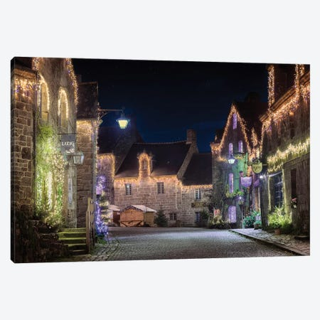 Locronan By Night Canvas Print #PHM131} by Philippe Manguin Canvas Artwork