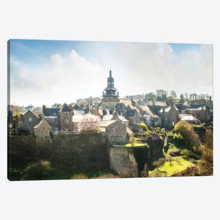 Moncontour Old Village In Brittany 3-Piece Canvas #PHM135} by Philippe Manguin Canvas Art Print