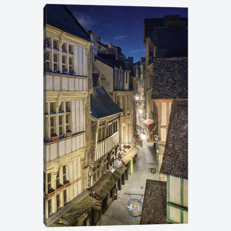 Mont Saint Michel - Grande Rue Canvas Print #PHM137} by Philippe Manguin Art Print