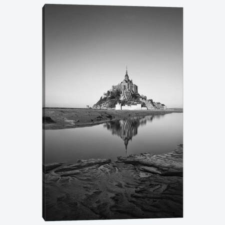 Mont Saint Michel Black And White Canvas Print #PHM140} by Philippe Manguin Canvas Print