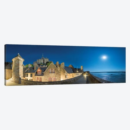 Mont Saint Michel Curtain Wall Canvas Print #PHM142} by Philippe Manguin Canvas Art Print