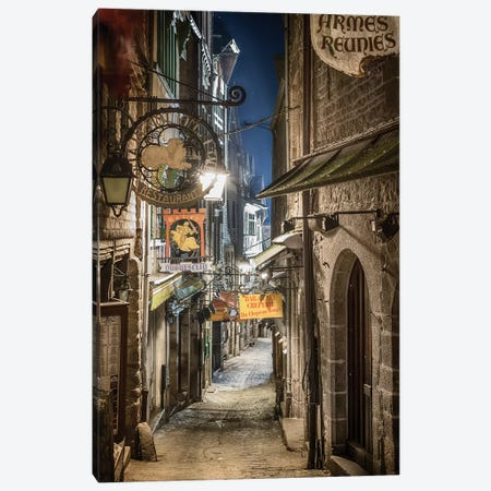 Mont Saint Michel La Grande Rue Canvas Print #PHM144} by Philippe Manguin Canvas Artwork