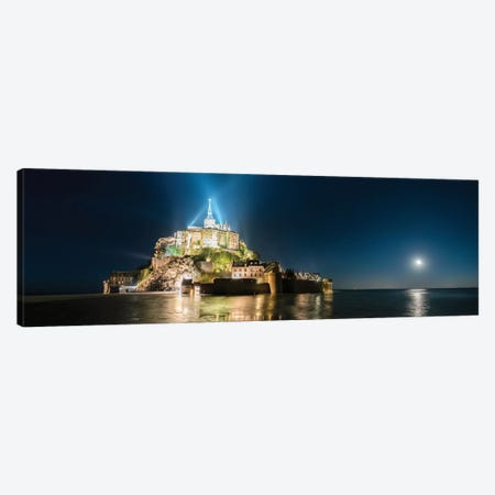 Mont Saint Michel La Nuit Canvas Print #PHM145} by Philippe Manguin Canvas Artwork