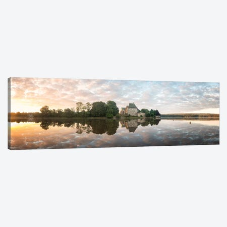 Panoramic Of Abbaye Paimpont In Brittany Canvas Print #PHM165} by Philippe Manguin Canvas Artwork