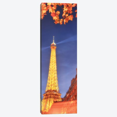 Panoramic Red Eiffel Tower Canvas Print #PHM166} by Philippe Manguin Canvas Artwork