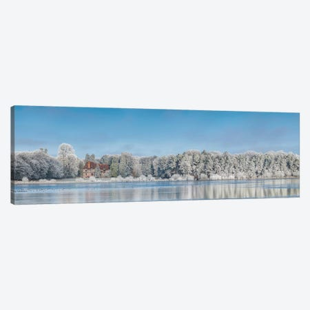 Panoramic Winter Lake Canvas Print #PHM168} by Philippe Manguin Canvas Print