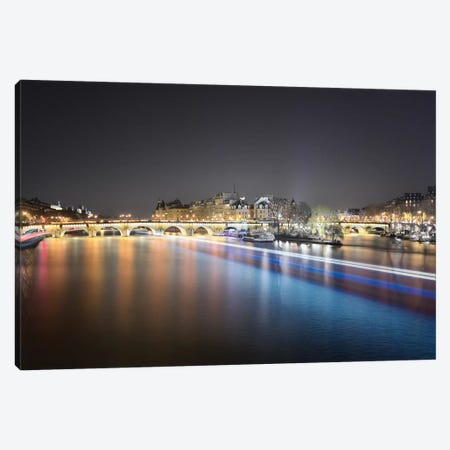 Paris From Pont Des Arts Canvas Print #PHM173} by Philippe Manguin Canvas Wall Art