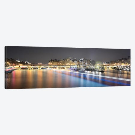 Paris From Pont Des Arts II Canvas Print #PHM174} by Philippe Manguin Canvas Print