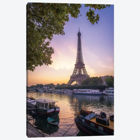 Paris Sunrise Canvas Print #PHM175} by Philippe Manguin Art Print