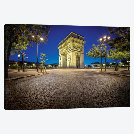 Paris, Arc De Triomphe Canvas Print #PHM178} by Philippe Manguin Canvas Art