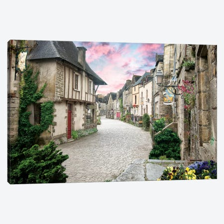 Rochefort En Terre En Bretagne 3-Piece Canvas #PHM182} by Philippe Manguin Canvas Print