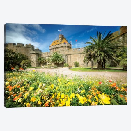 Saint Malo Castle In Bretagne Canvas Print #PHM183} by Philippe Manguin Art Print