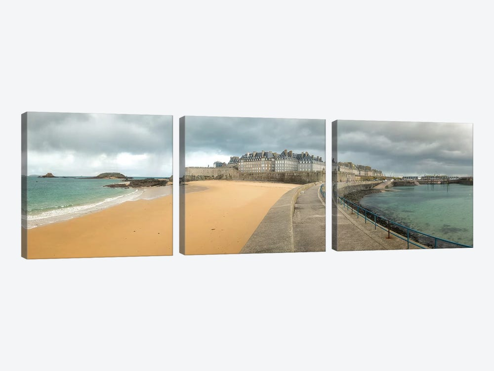 Saint Malo by Philippe Manguin 3-piece Canvas Art Print
