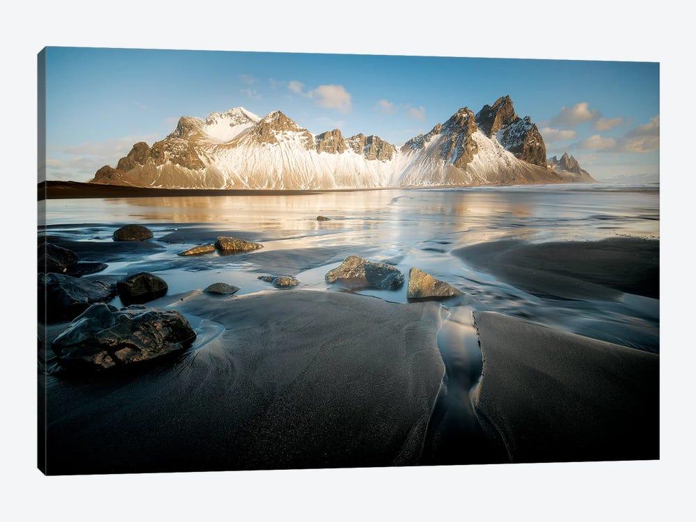 Stokksnes Under Iceland Blue Sky by Philippe Manguin 1-piece Art Print