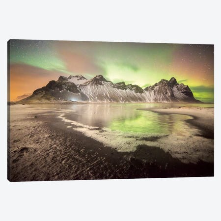 Stokksnes Iceland Nights Canvas Print #PHM192} by Philippe Manguin Canvas Artwork