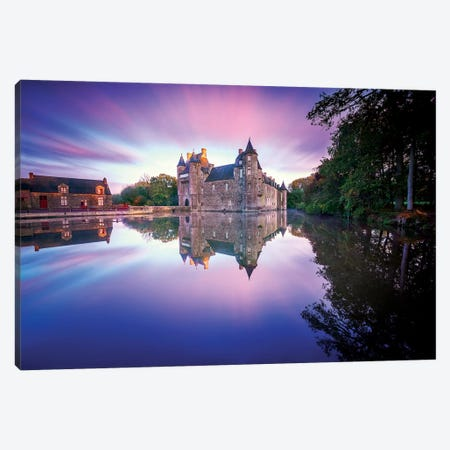 Trecesson Old French Castle Canvas Print #PHM220} by Philippe Manguin Canvas Artwork