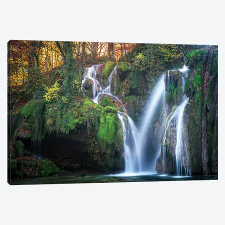 Tufs Waterfall Canvas Print #PHM222} by Philippe Manguin Canvas Wall Art