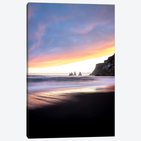 Vik Beach In Iceland Canvas Print #PHM226} by Philippe Manguin Art Print