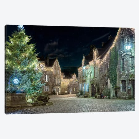 Village De Locronan En Bretagne 3-Piece Canvas #PHM230} by Philippe Manguin Canvas Art Print