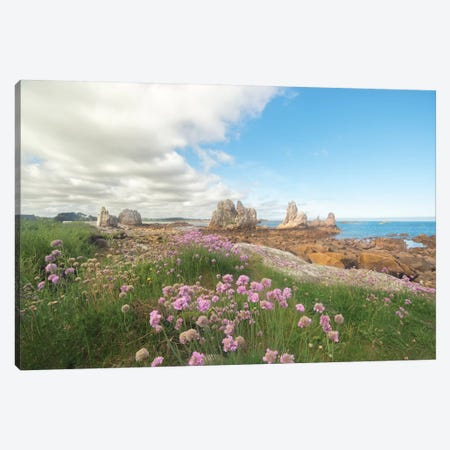 Aiguilles Port Scaff Bretagne Canvas Print #PHM236} by Philippe Manguin Canvas Artwork