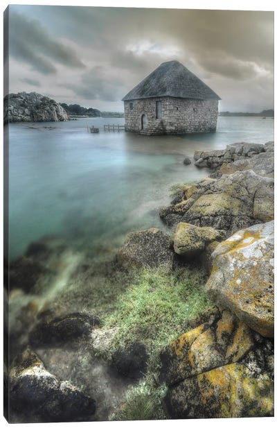 Ancient Sea Mill On Brehat Island - Bretagne Canvas Art Print