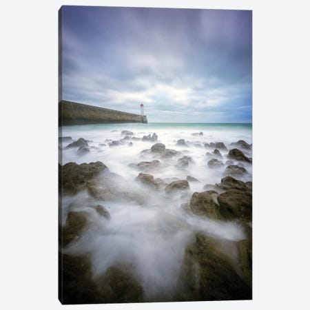 Audierne Sea Shore Canvas Print #PHM238} by Philippe Manguin Art Print