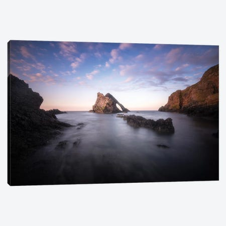 Bow Fiddle Rock In Scotland Sea Canvas Print #PHM242} by Philippe Manguin Canvas Artwork