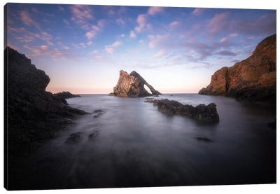 Bow Fiddle Rock In Scotland Sea Canvas Art Print