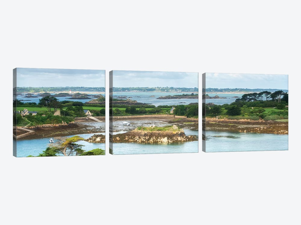 Brehat Island Bretagne by Philippe Manguin 3-piece Canvas Art