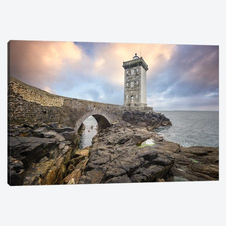 Bretagne, Le Phare De Kermorvan Canvas Print #PHM246} by Philippe Manguin Canvas Print