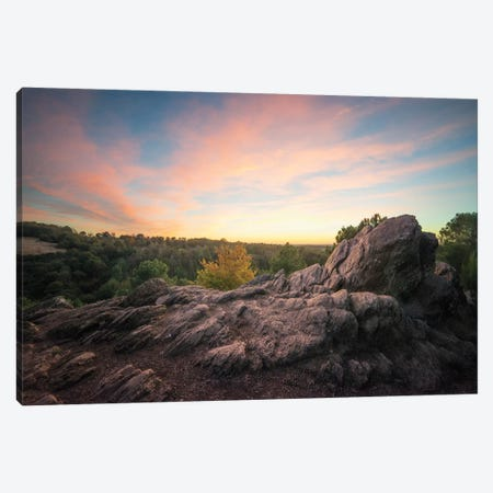 Broceliande At Sunset 3-Piece Canvas #PHM24} by Philippe Manguin Canvas Wall Art