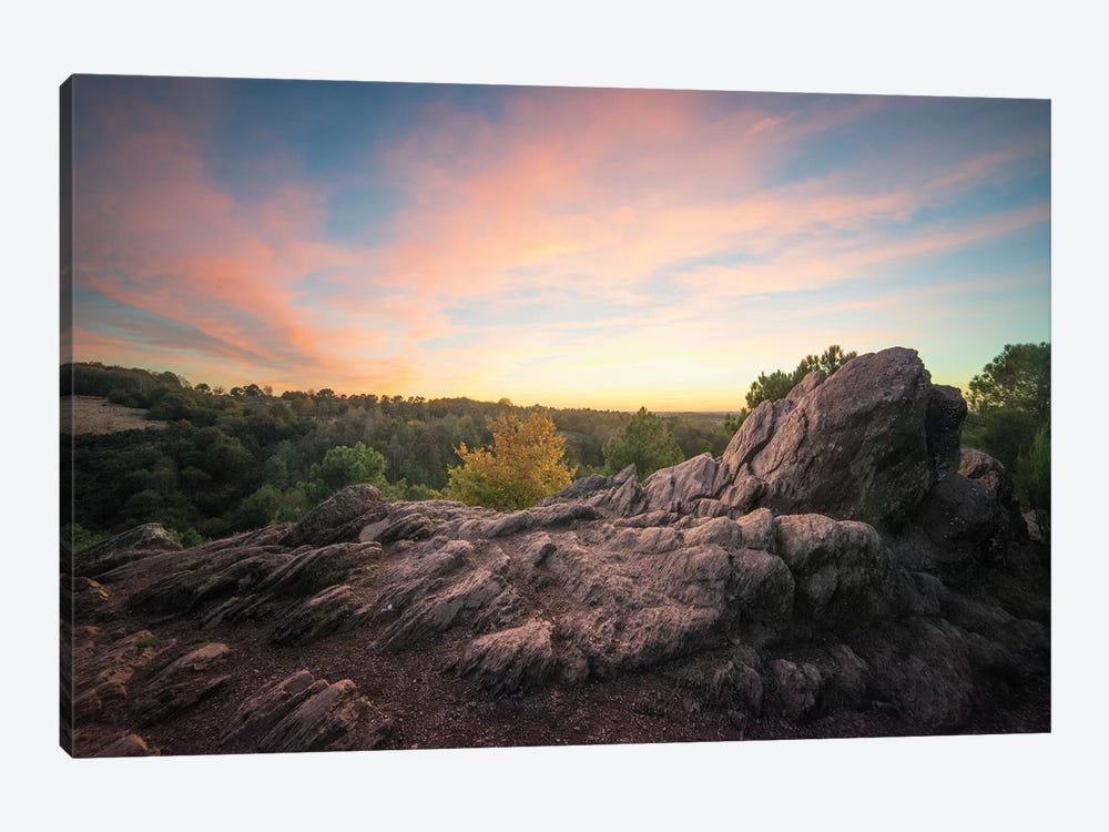 Broceliande At Sunset by Philippe Manguin 1-piece Canvas Wall Art