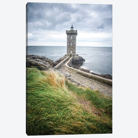 Bretagne, Phare De Kermorvan Au Conquet 3-Piece Canvas #PHM253} by Philippe Manguin Canvas Print