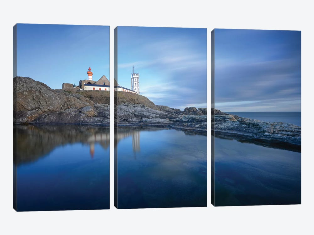 Bretagne, Reflets De La Pointe Saint Mathieu by Philippe Manguin 3-piece Art Print