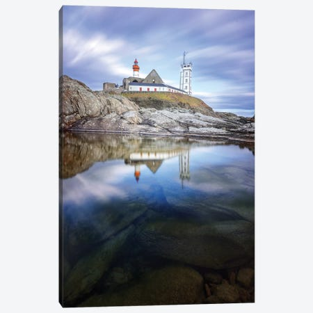 Bretagne, Reflets Sur Saint Mathieu Canvas Print #PHM259} by Philippe Manguin Art Print