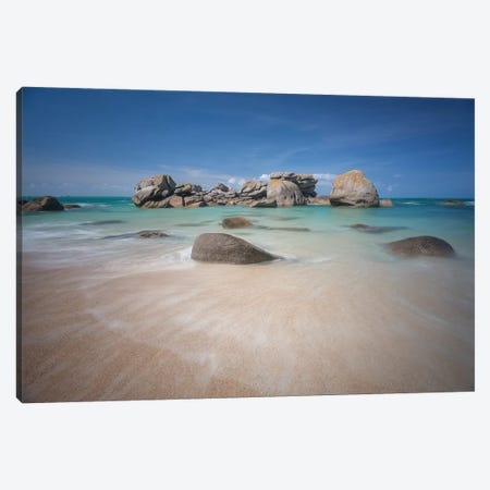 Brignogan Beach In Bretagne Canvas Print #PHM262} by Philippe Manguin Canvas Artwork
