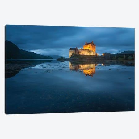 Castle On An Island Eilean Donan Loch Duich Dornie Highlands Region Scotland Canvas Print #PHM268} by Philippe Manguin Canvas Art