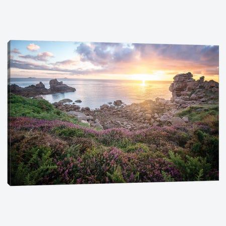 Cote De Granit Rose Sunrise Canvas Print #PHM270} by Philippe Manguin Art Print