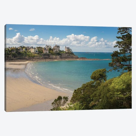 Dinard Beach In Bretagne Canvas Print #PHM272} by Philippe Manguin Canvas Print